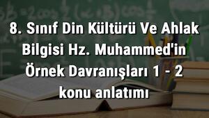 8. Sınıf Din Kültürü Ve Ahlak Bilgisi Hz. Muhammedin Örnek Davranışları 1 - 2 konu anlatımı