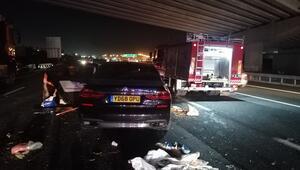 TEMde feci kaza: 3 ölü 4 yaralı