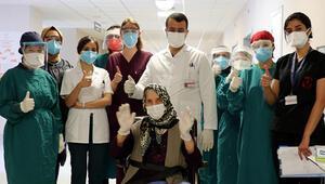 80 yaşındaki hasta, kronik rahatsızlıklarına rağmen koronavirüsü yendi
