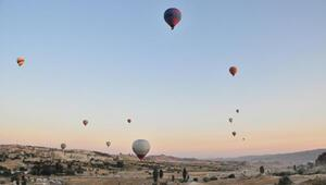 Kapadokyada balonlarla 3 günde 1500 kişi uçtu