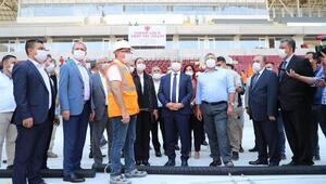Vali Doğan, Hatay Stadyumunu inceledi