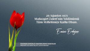 Emine Erdoğandan Muş Laleli Malazgirt Zaferi kutlaması