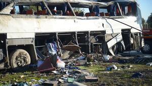 Eskişehirde servis otobüsü kaza yaptı Ölü ve yaralılar var...