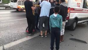İstanbulda D-100 Karayolunda kaza