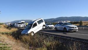 Kütahya'da 5 araçlı zincirleme kazada 1 kişi yaralandı