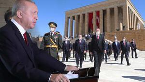 Son dakika… Devletin zirvesi Anıtkabir'de