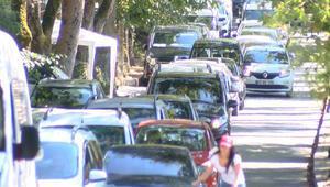 Doldu taştı Hafta sonu Belgrad Ormanına giren araç sayısı inanılmaz...