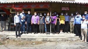 Ceyhan Belediyesi, yangın mağduru ailelere destek oldu