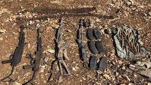 MSB: Pençe-Kaplan Operasyonunda silah, mühimmat ve yaşam malzemeleri ele geçirildi