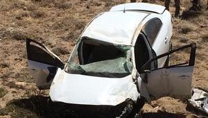 Güründe otomobil şarampole devrildi, sürücü yaralandı