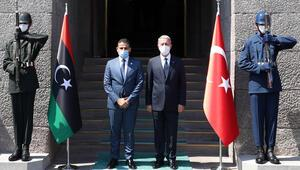 Son dakika haberi: Bakan Akar, Libya Savunma Bakanı ile görüştü