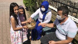 Kız kardeşler, bileklik satarak sokak hayvanlarına yiyecek alıyor