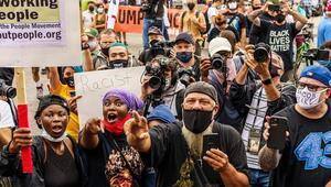 ABDde Kenosha kentinde Trumpın ziyareti sonrası yine gösteriler düzenlendi