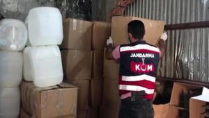 Jandarmanın operasyonunda 7 bin 220 litre sahte içki ele geçirildi