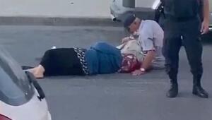Arnavutköyde köpeğe çarpmamak kaza yapan yaşlı çift yaralandı