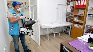 Gölbaşı Aile Sağlık Merkezlerinde yoğun dezenfeksiyon çalışması