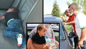 Arabada bırakılan 1,5 yaşındaki bebek için vatandaşlar seferber oldu