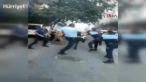 Esenyurtta işportacıyla zabıtanın kavgasını polis ayırdı