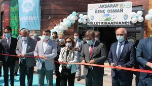 Aksaray'da Millet Kıraathanesi hizmete açıldı