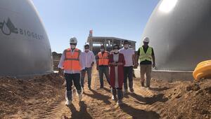Biogaz tesisinde üretim başladı