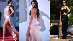 Gündüz başka gece başka: Georgina Rodriguez kırmızı halının yıldızı oldu