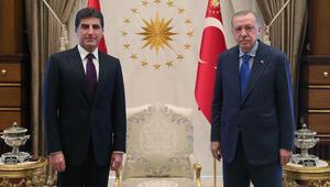 Cumhurbaşkanı Erdoğan, Neçirvan Barzaniyi kabul etti