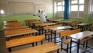 Tokatta KPSS öncesi okullar dezenfekte edildi