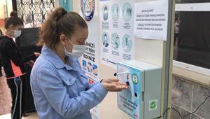 Bursluluk Sınavında koronavirüs tedbirlerine dikkat edildi