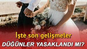 Düğünler yasaklandı mı, ne zaman başlayacak 81 ilde uygulama başladı: Kına, sünnet, nişan ve düğünlerle ilgili son dakika gelişmeler