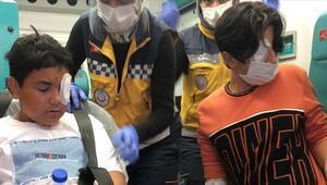 Torpilden yaralanan çocuklar Bakan Soylunun talimatıyla helikopterle hastaneye ulaştırıldı