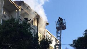 5inci kattaki ev yandı