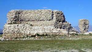 Van Gölü çekilince tarihi Erciş Kalesi ortaya çıktı