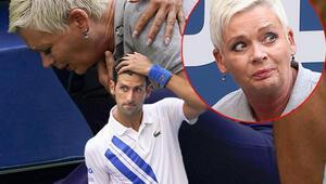 Novak Djokovicin skandal vedası Top görevlinin boğazına gelince diskalifiye oldu