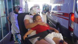 Yaralı halde, oğlunu bir an bile kucağından bırakmadı