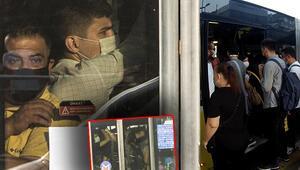 Son dakika haberler: İstanbulda toplu ulaşımda sosyal mesafesiz ayakta yolculuk