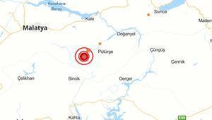Son dakika haberler... Malatyada 4.6 büyüklüğünde şiddetli deprem