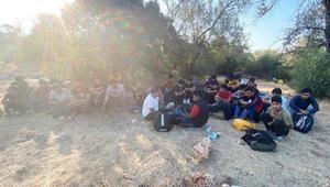 Kaşta 30 kaçak göçmen yakalandı