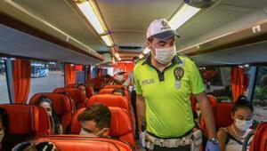 Antalyada otobüs ve taksilere korona denetimi