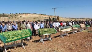 Mardindeki kazada ölen 3ü çocuk 6 kişi, gözyaşları içinde toprağa verildi