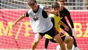 Galatasarayda Diagne ve Emre Akbaba takımdan ayrı çalıştı