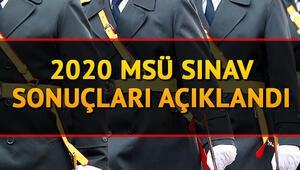 MSÜ Astsubay Meslek Yüksekokulları sınav sonuçları açıklandı - 2020 MSÜ sınav sonucu sorgulama