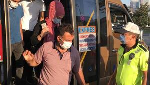 Son dakika haberler: İstanbulda minibüslere ayakta yolcu denetimi