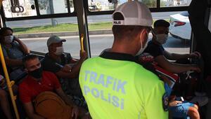 Bodrumda minibüs ve taksilere Kovid-19 denetimi gerçekleştirildi