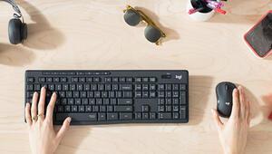 Logitechten sessiz çalışan klavye ve fare