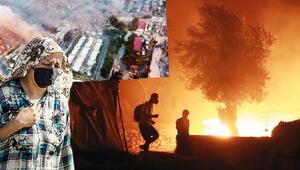 Korona isyanında çadırlar yandı, 13 bin kişi sokakta kaldı... Midilli'de can pazarı