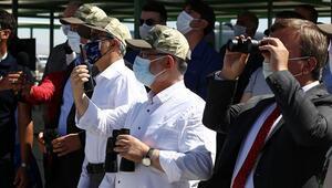 Bakan, roket yarışlarında yüksek irtifa atışlarını böyle izledi