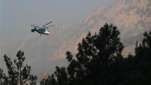 Adanadaki orman yangınına havadan müdahale yeniden başladı