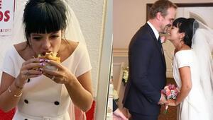 Önce evlendi, sonra hamburger yedi