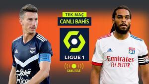 Aralarındaki son 8 maçın tamamı KG VAR bitti Lyonun Bordeaux karşısında iddaa oranı...