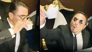 Nusrete altın tozlu kahve